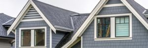 Home with gray roof and gray siding